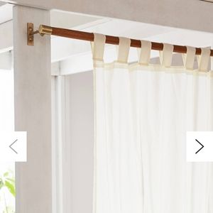 NEW urban outfitters mid century curtain rods